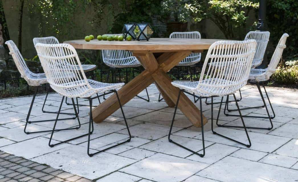 Ponadczasowe i trwałe wyposażenie ogrodowe: stół na taras drewniany